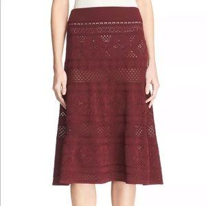 A.L.C Tunney Crochet Stretch knit Skirt